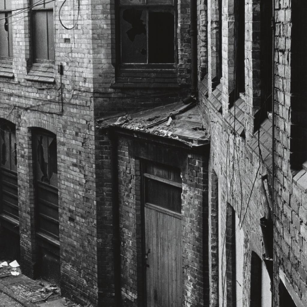 image showing lace market, Nottingham derelict
